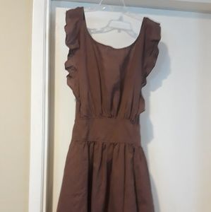 Free people brown apron dress